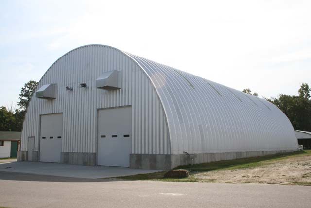 The offices of st clair county parks recreation for Quonset hut